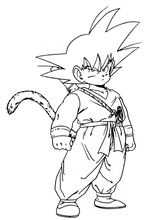 coloring pictures of goku goku coloring pages to printable goku coloring pages of goku coloring pictures