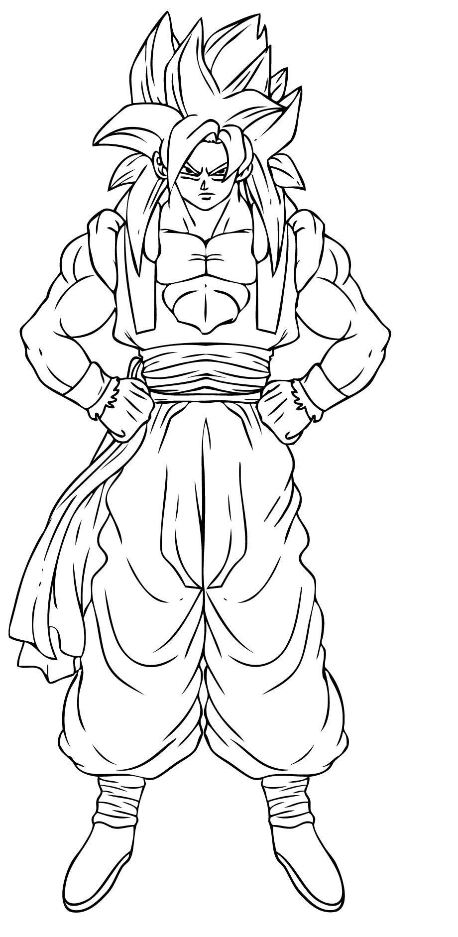coloring pictures of goku printable goku coloring pages for kids cool2bkids goku pictures of coloring
