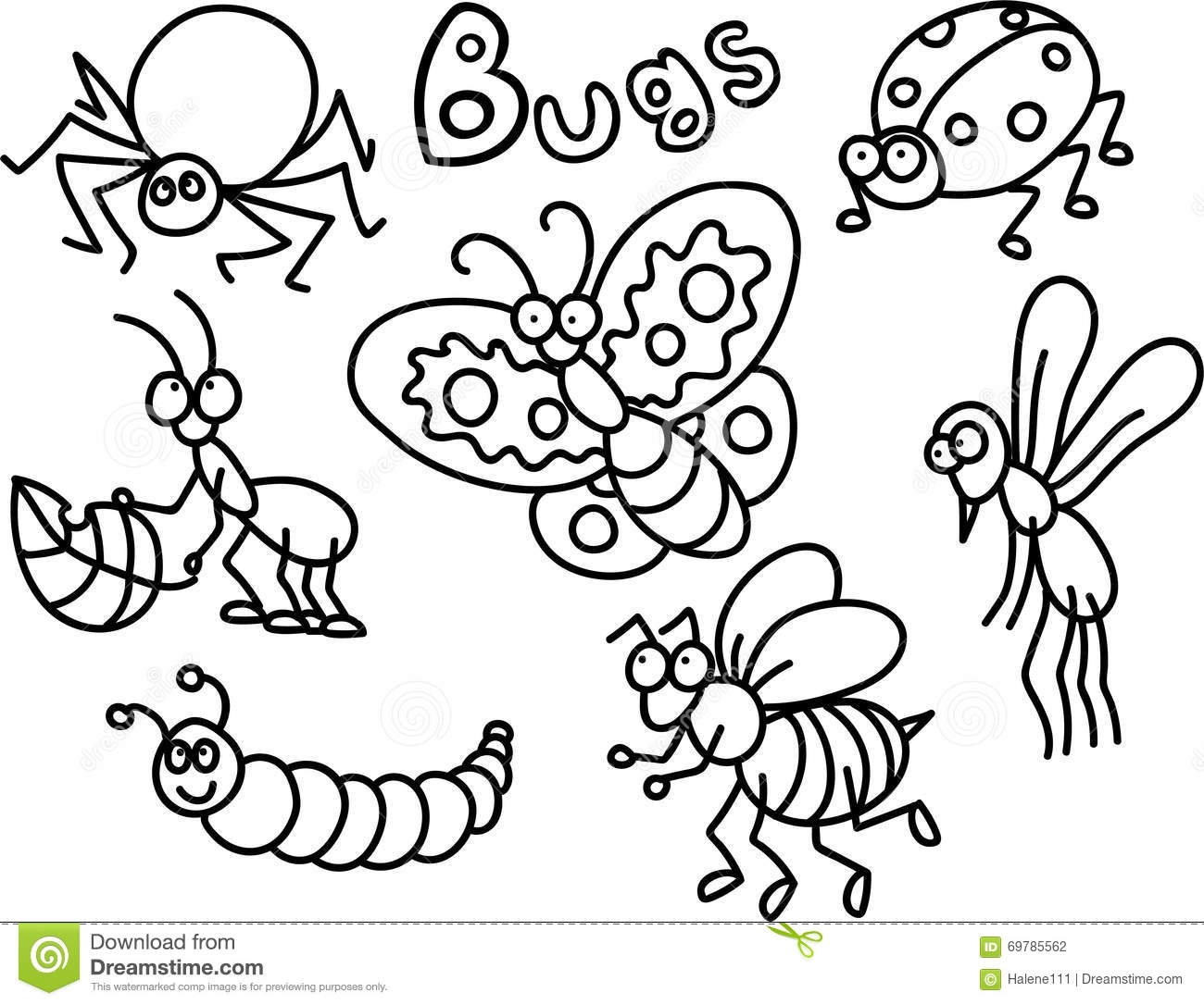 coloring pictures of insects printable ladybug coloring page the inky octopus of pictures insects coloring