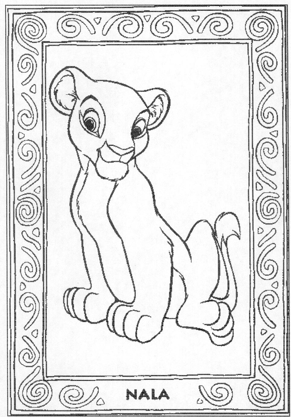 coloring pictures of lion king lion king coloring pages nala and simba az coloring home pictures of king lion coloring
