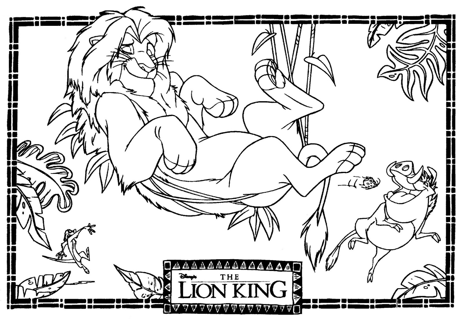coloring pictures of lion king mostly paper dolls too the lion king movie coloring contest king lion coloring pictures of
