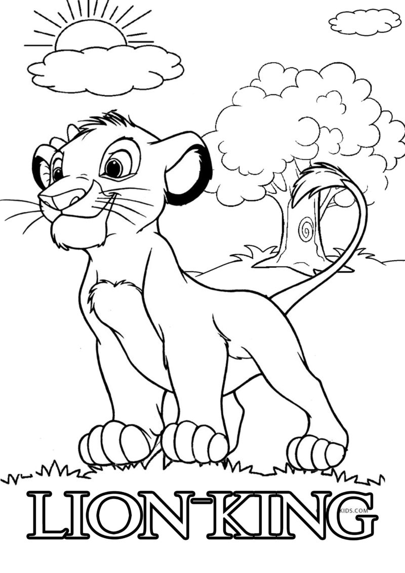 coloring pictures of lion king the lion king coloring pages lion of pictures king coloring