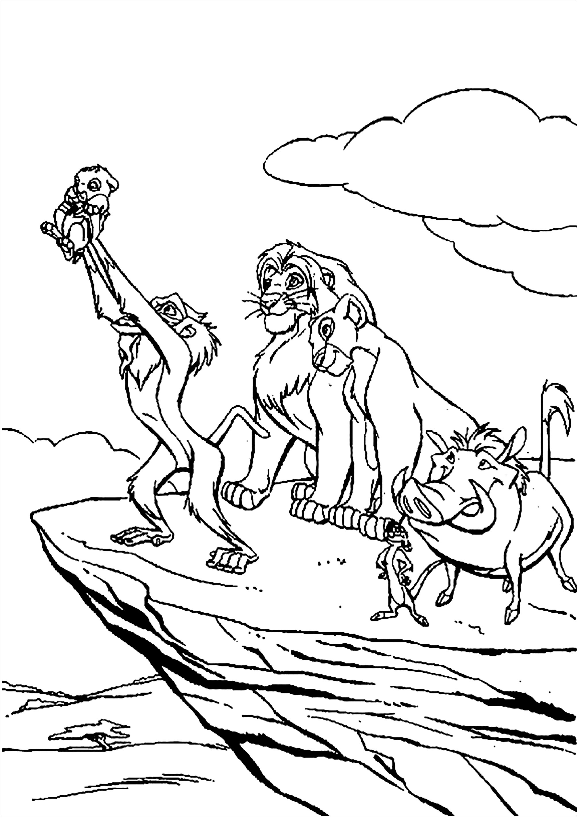 coloring pictures of lion king wildebeest lion king drawing sketch coloring page lion coloring king of pictures