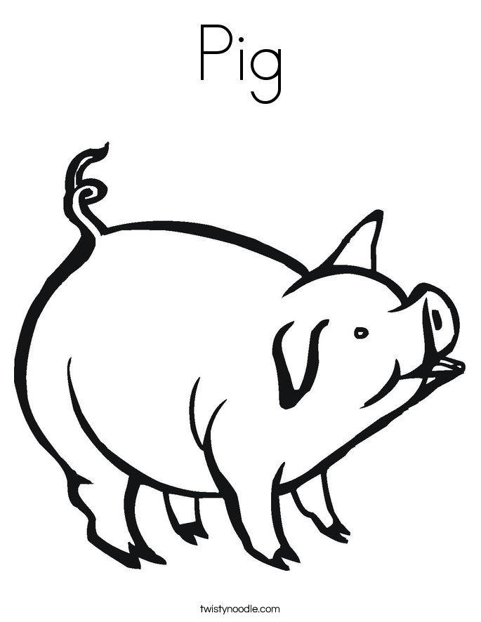 coloring pictures of pigs pig coloring pages getcoloringpagescom coloring of pigs pictures