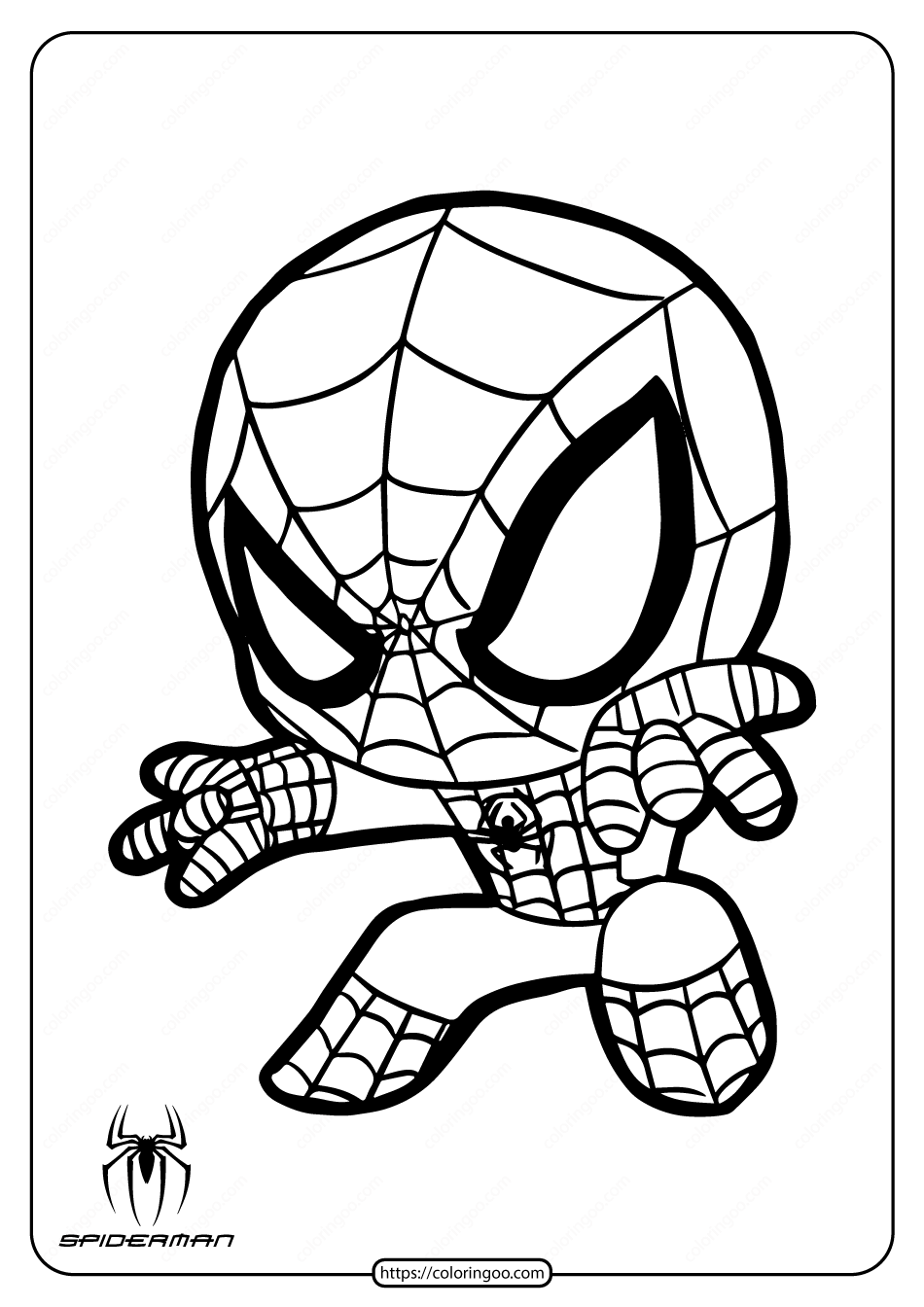 coloring pictures of spiderman spiderman easy drawing at getdrawings free download of spiderman pictures coloring