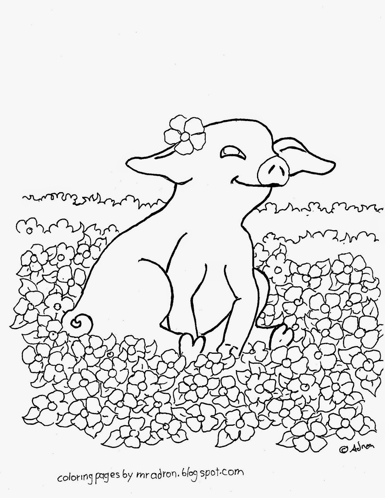 coloring pig pictures coloring pages for kids by mr adron free printable baby coloring pig pictures