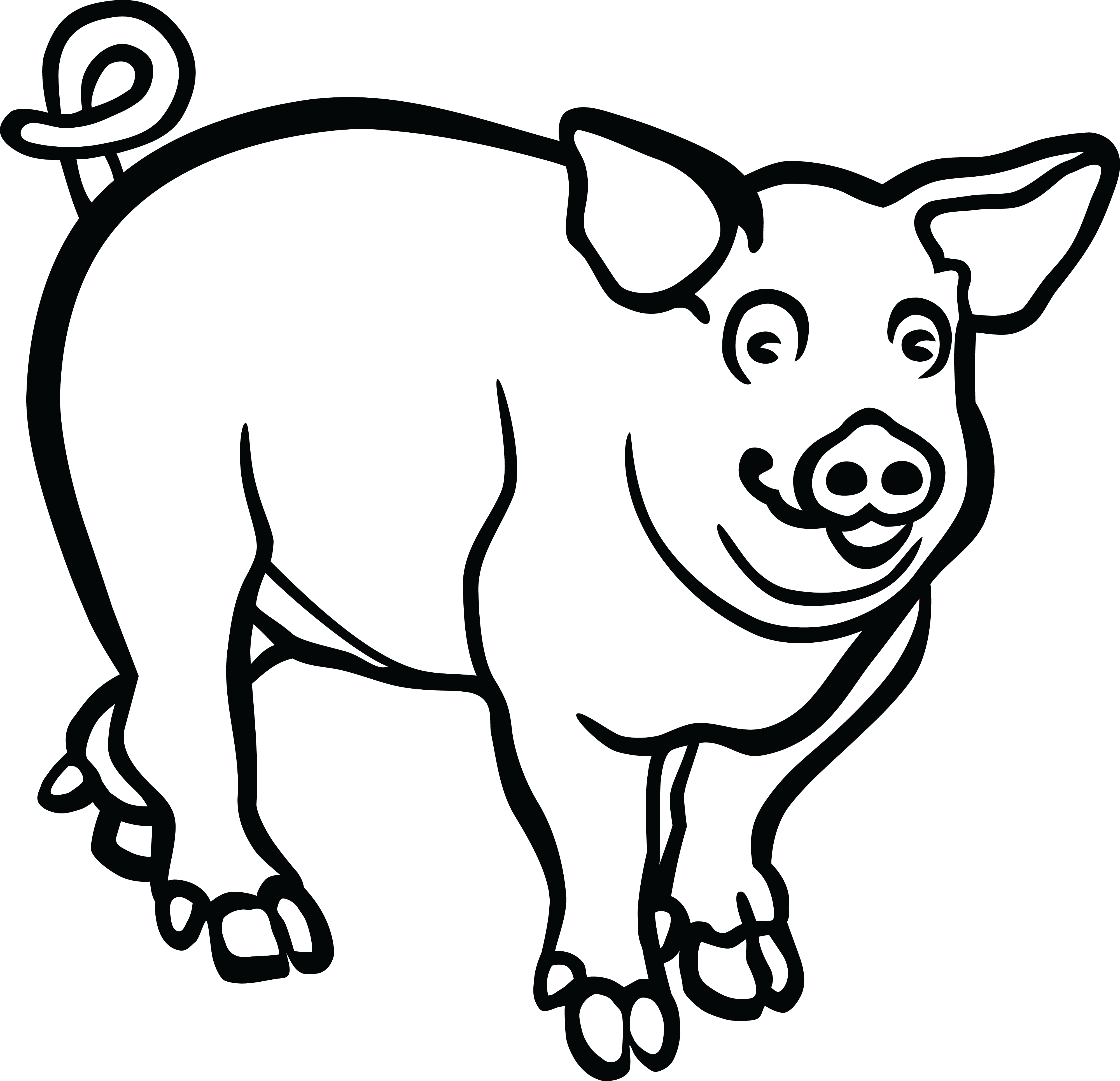 coloring pig pictures pig coloring pages getcoloringpagescom pig pictures coloring