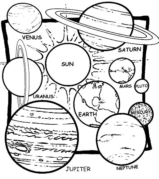 coloring planets solar system drawing solar system coloring pages to download and print for free coloring solar planets drawing system