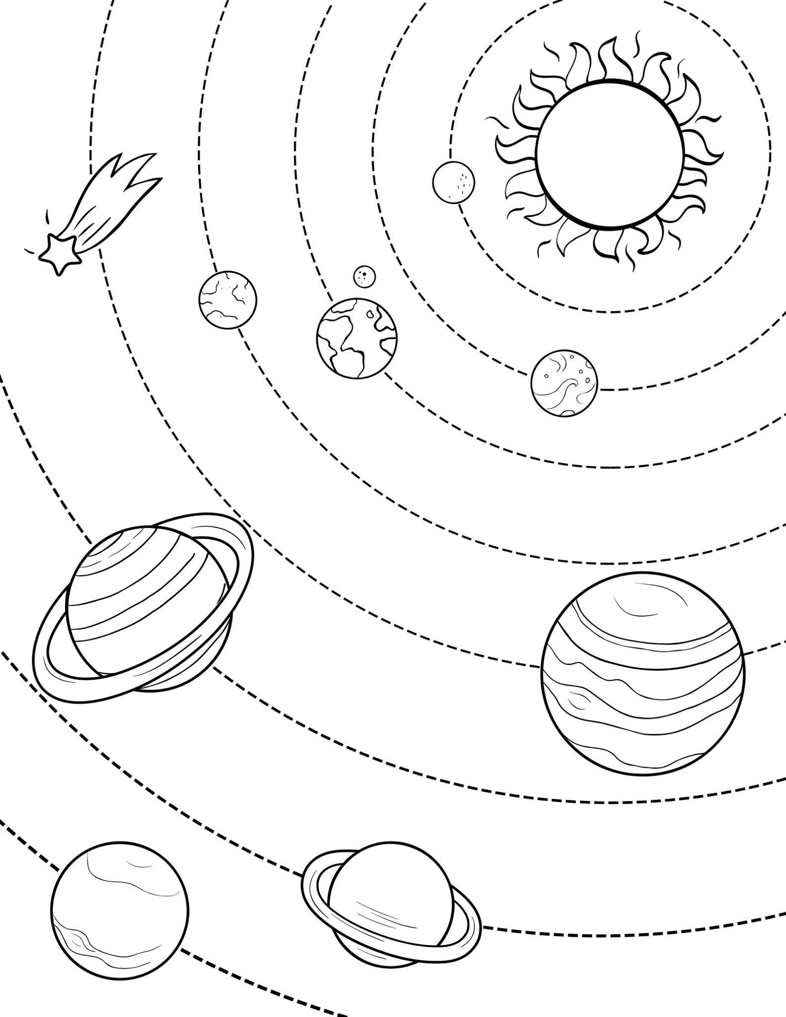 coloring planets solar system drawing solar system line drawing at getdrawings free download drawing coloring system solar planets
