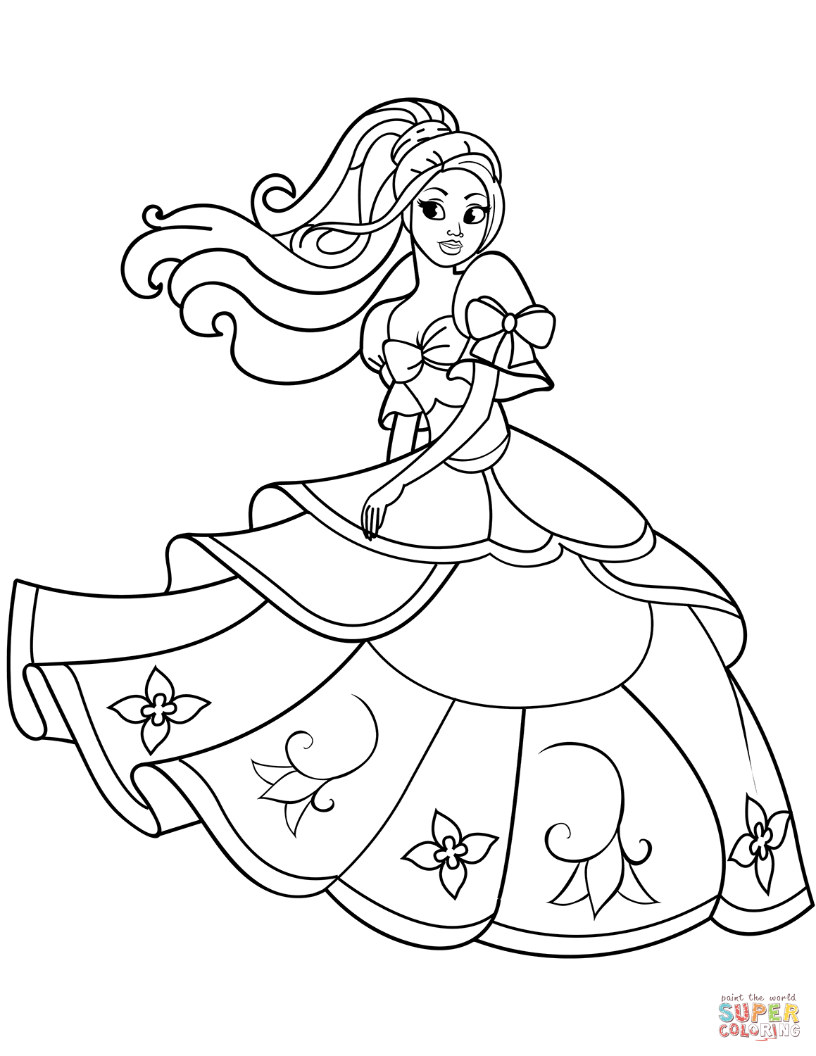 coloring princess drawing for kids girl cartoon characters coloring pages coloring home drawing coloring for princess kids