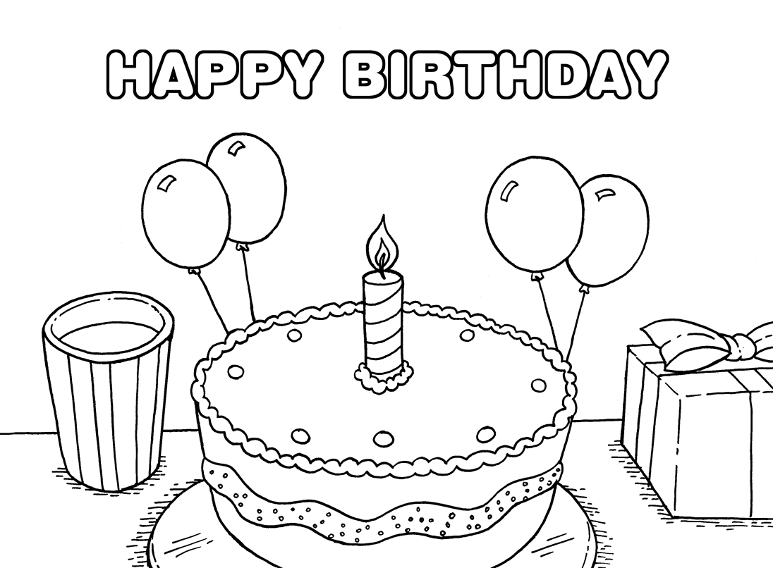 coloring printable birthday free easy to print happy birthday coloring pages tulamama printable coloring birthday
