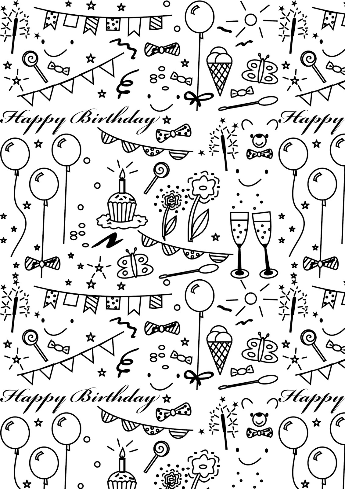 coloring printable birthday happy birthday coloring pages to download and print for free birthday printable coloring