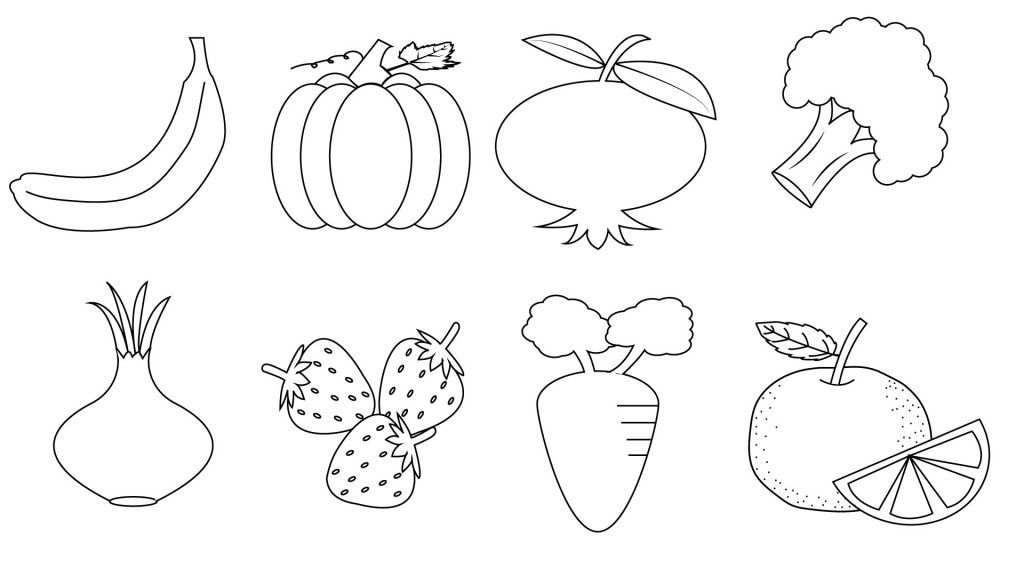 coloring printable fruits and vegetables fruit and vegetables coloring pages for kids printable printable coloring fruits and vegetables