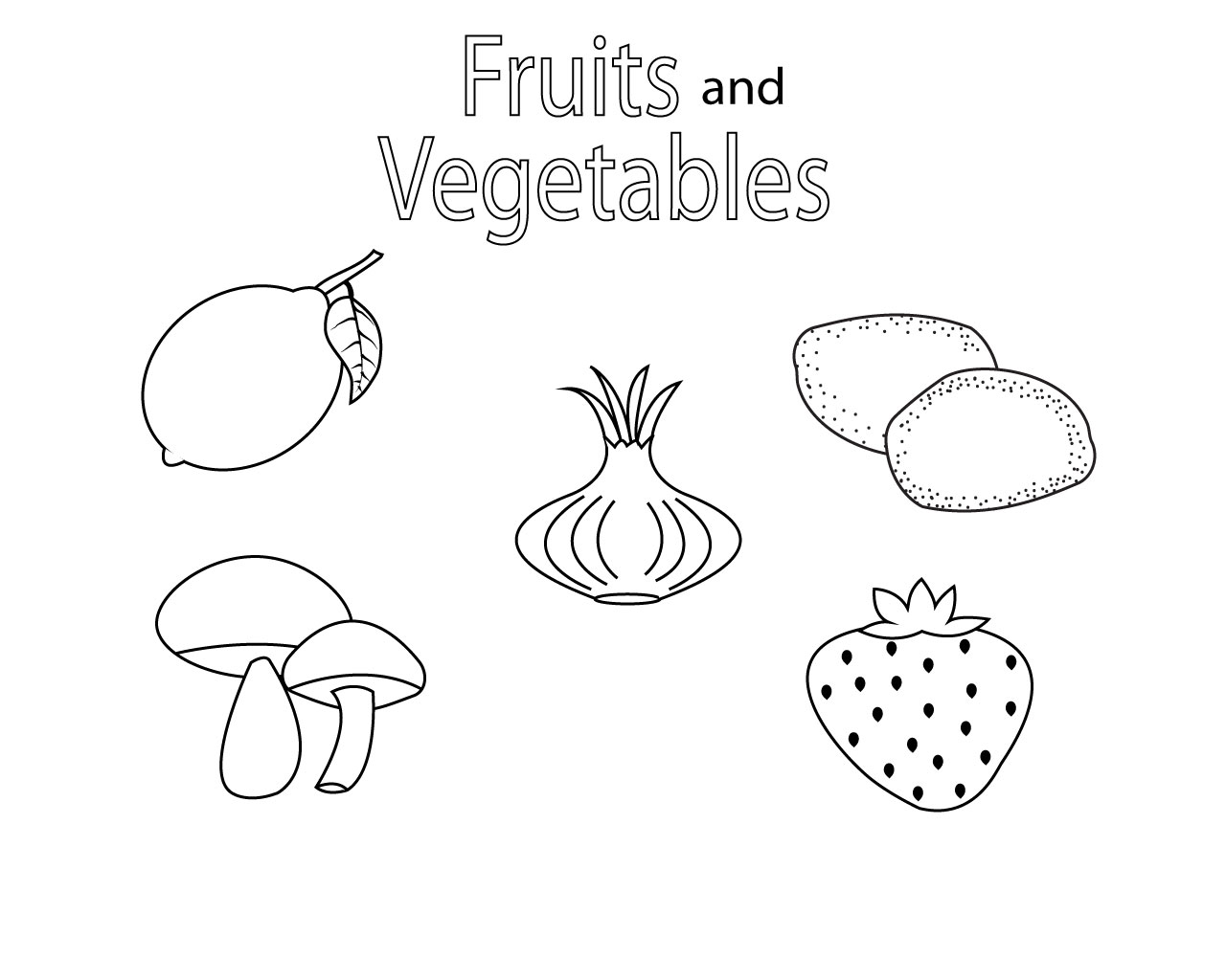 coloring printable fruits and vegetables fruits and vegetables coloring pages for kids printable vegetables fruits and coloring printable