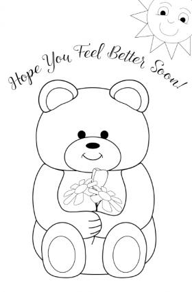 coloring printable get well cards get well soon card cards coloring pages children39s printable get cards coloring well