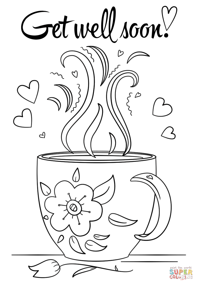 coloring printable get well cards get well soon coloring pages kidsuki printable cards coloring well get