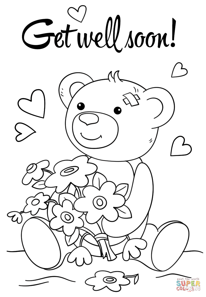 coloring printable get well cards get well soon coloring pages to download and print for free cards get coloring well printable