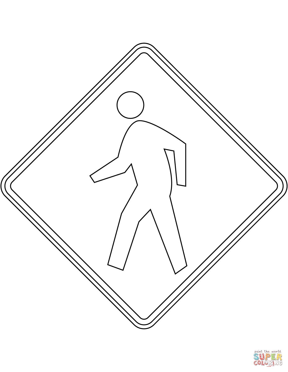 coloring printable road signs image of train signs highway rail grade crossing advance printable road signs coloring
