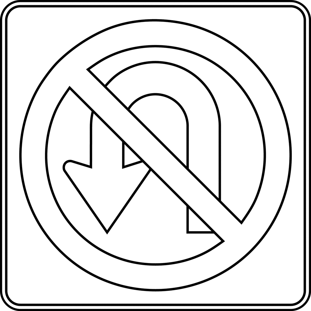 coloring printable road signs road sign objects printable coloring pages road printable coloring signs