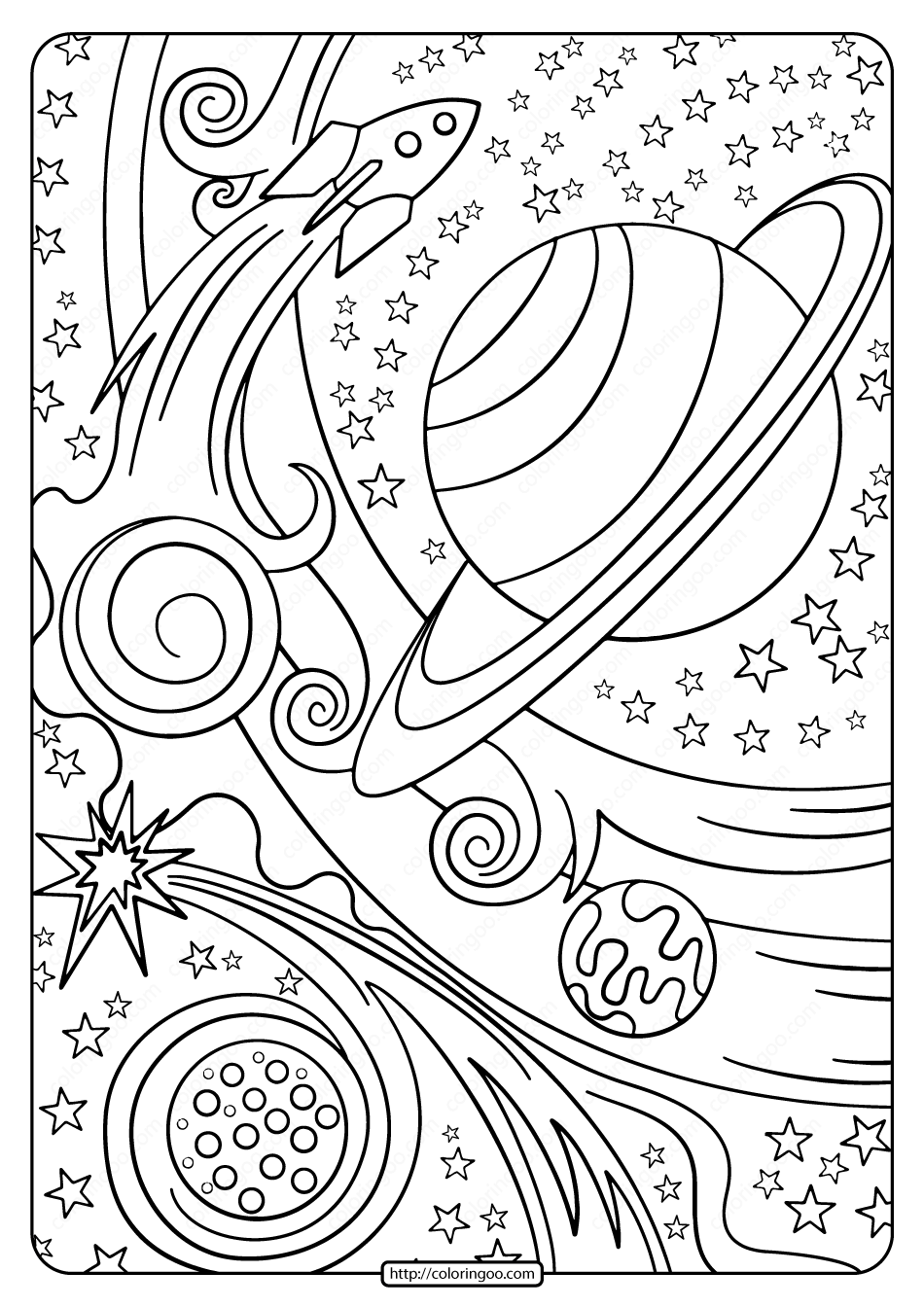 coloring prints free printable rocket and planets pdf coloring page coloring prints
