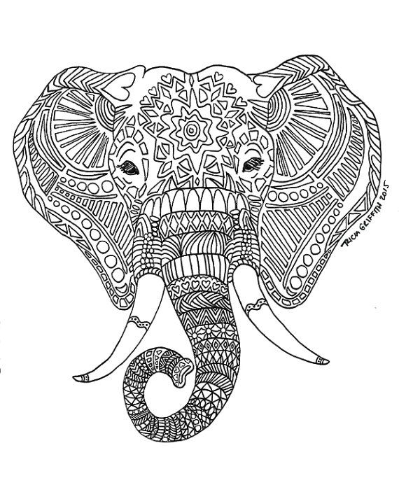coloring prints printable adult coloring pages elephant at getcolorings coloring prints