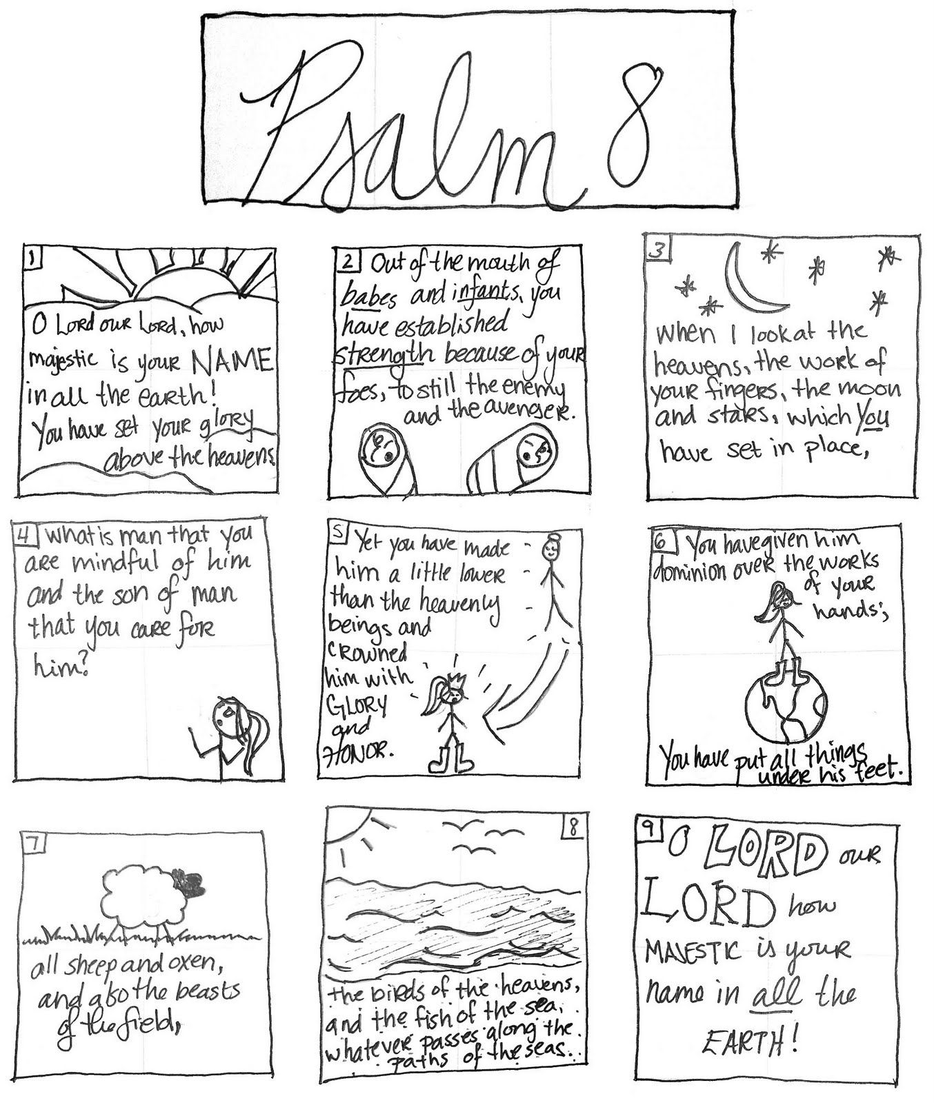 coloring psalm 8 coloring pages for kids by mr adron psalm 168 printable 8 coloring psalm