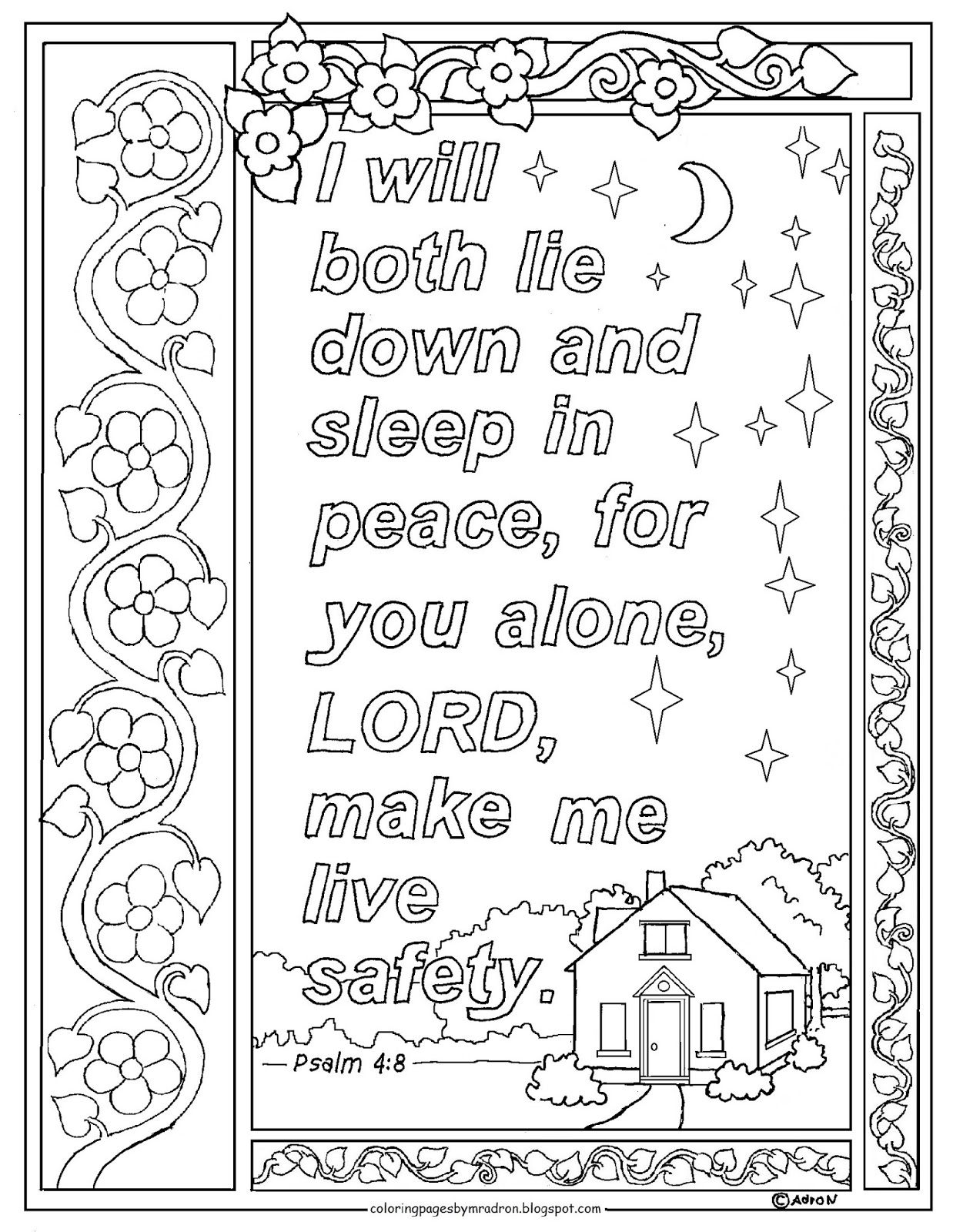 coloring psalm 8 coloring pages for kids by mr adron psalm 48 print and 8 coloring psalm