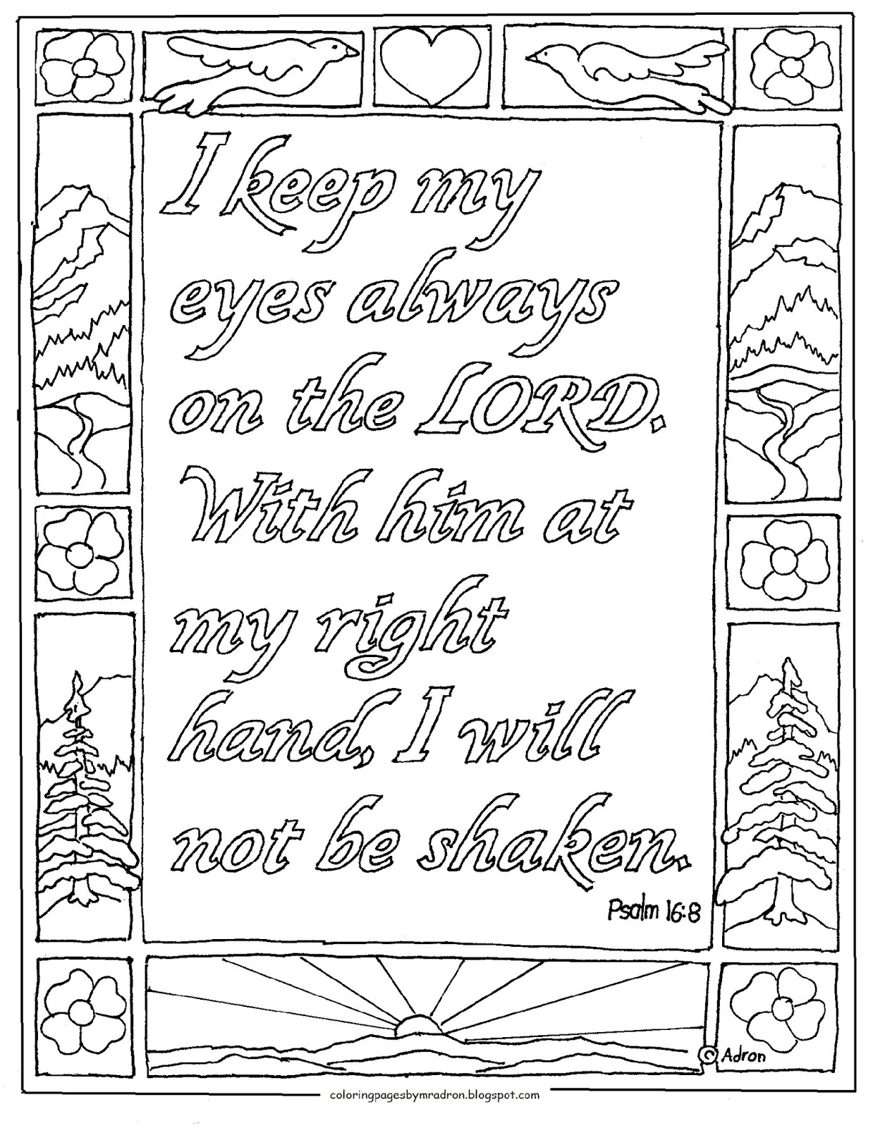 coloring psalm 8 coloring pages for kids by mr adron psalm 48 print and psalm 8 coloring