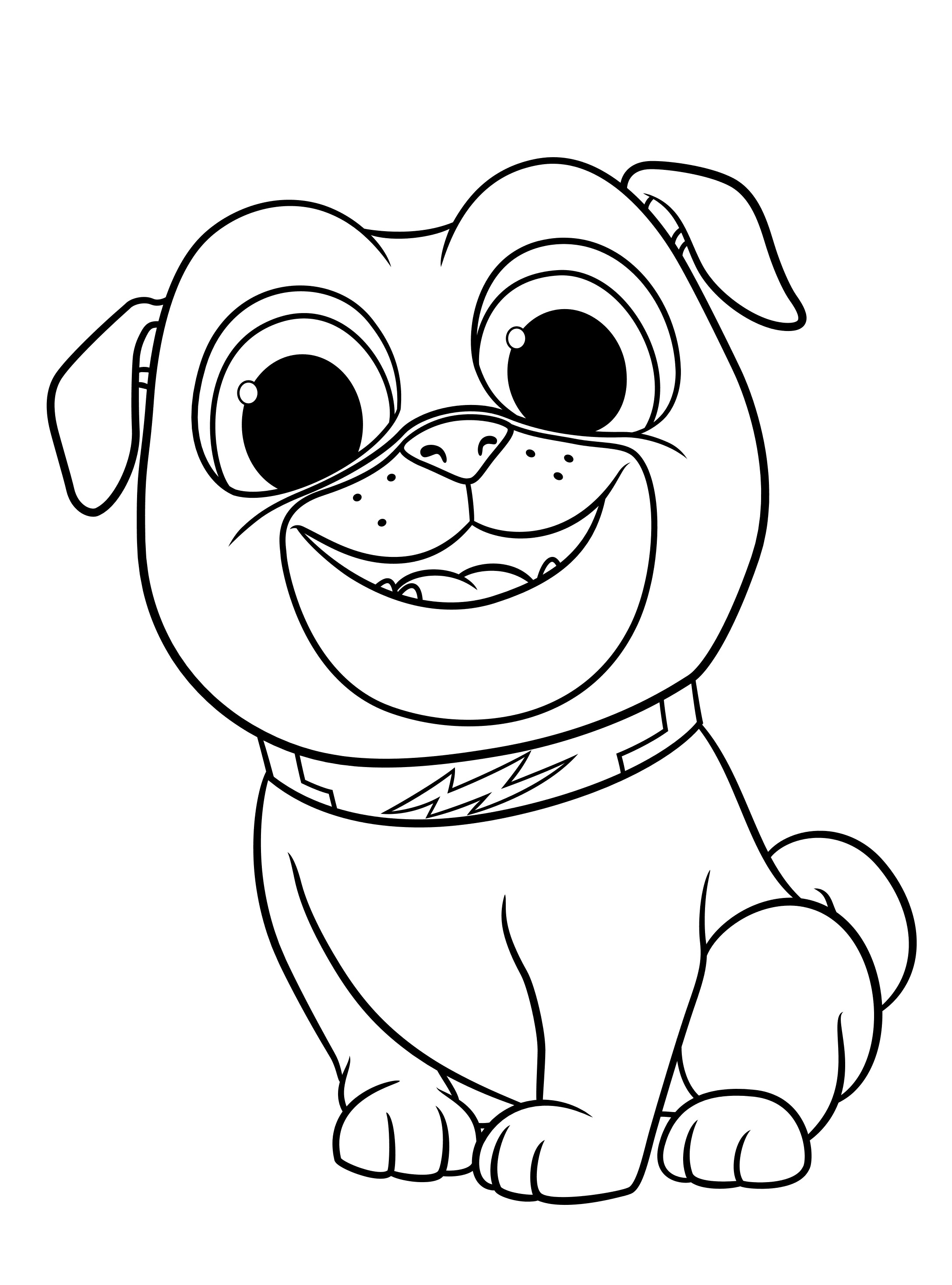 coloring puppy dog pals easy puppy dog pals coloring pages free to print for coloring puppy dog pals
