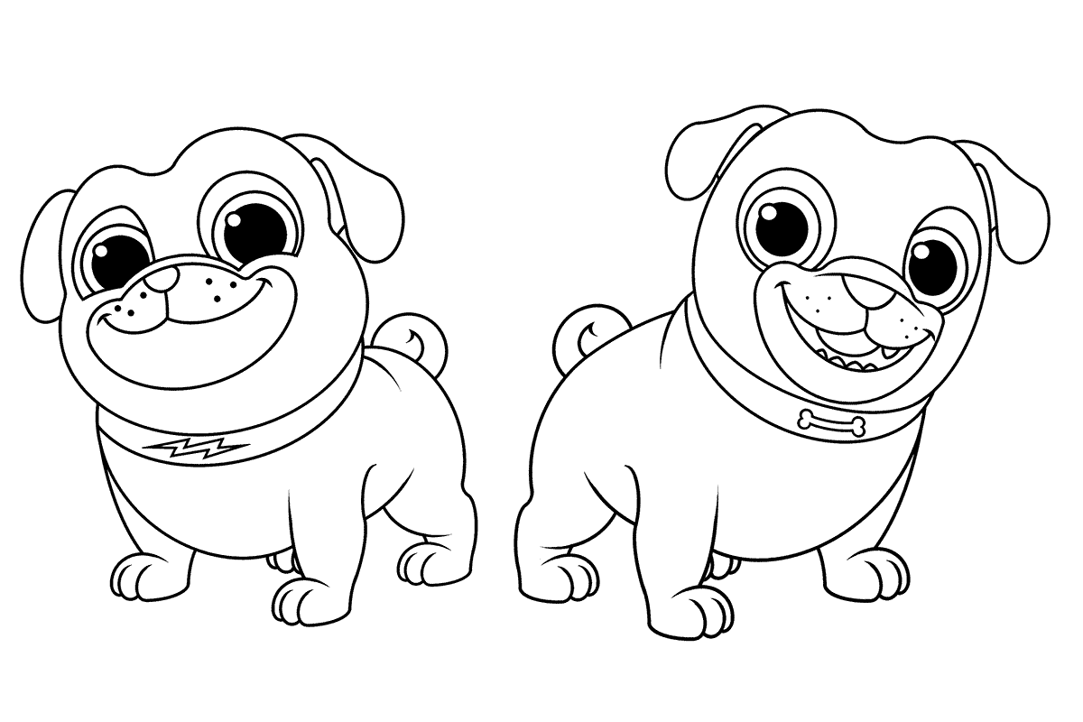 coloring puppy dog pals puppy dog pals coloring pages download and print puppy dog coloring puppy pals