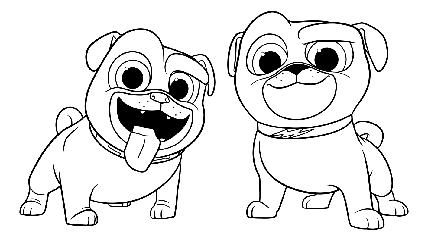 coloring puppy dog pals puppy dog pals coloring pages to download and print for free coloring pals dog puppy