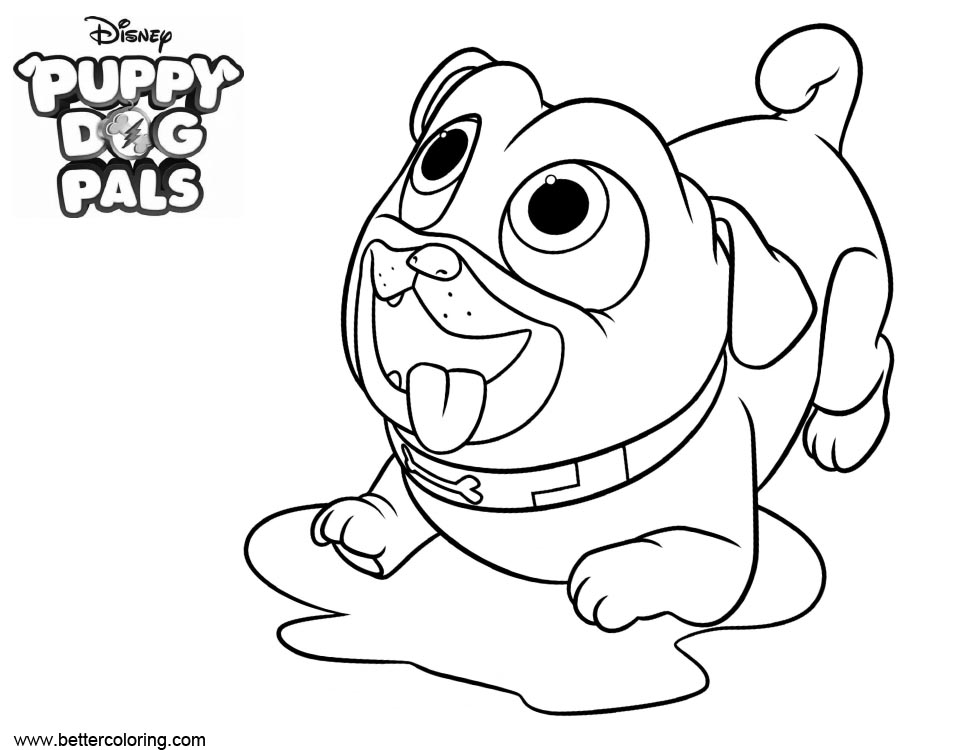 coloring puppy dog pals puppy dog pals coloring pages to download and print for free coloring puppy dog pals