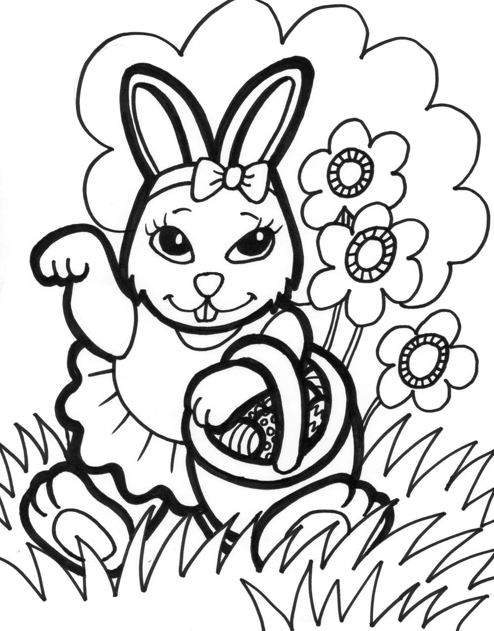 coloring rabbit clipart easter bunny outline coloring home coloring clipart rabbit