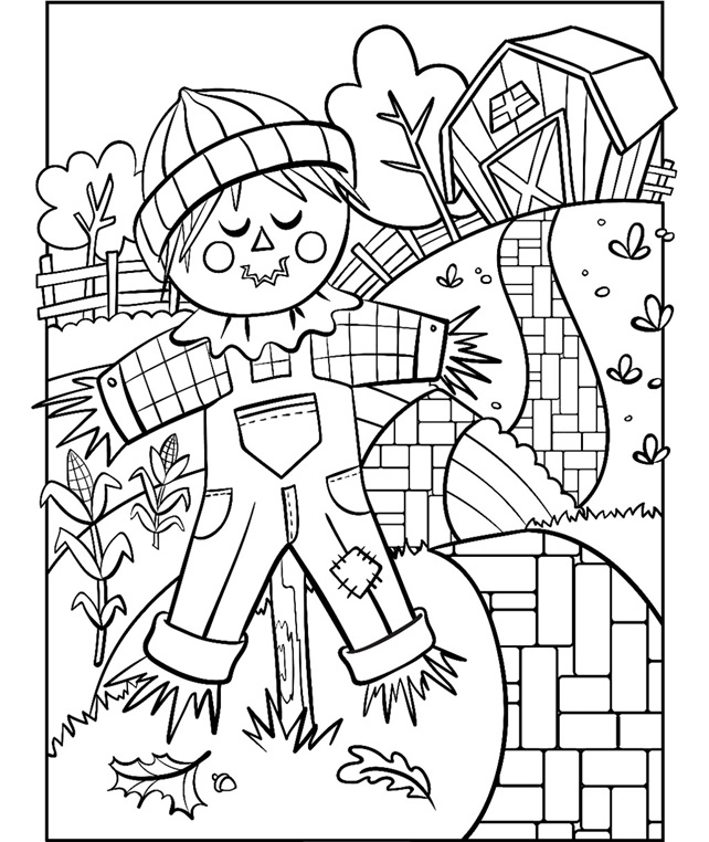 coloring scarecrow scarecrow coloring pages getcoloringpagescom coloring scarecrow
