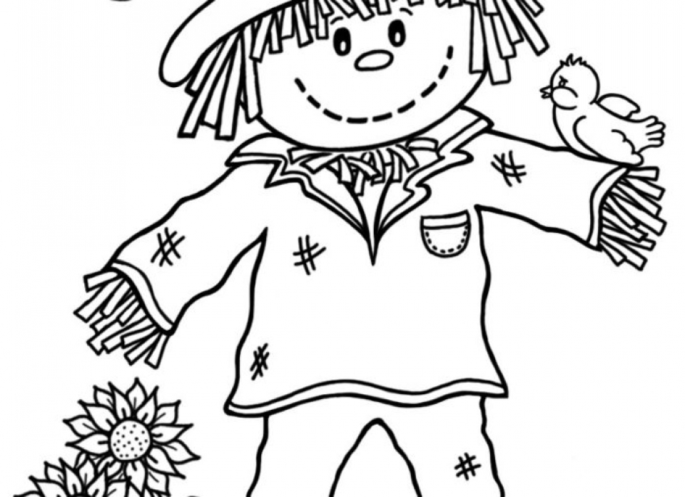 coloring scarecrow scarecrow coloring pages getcoloringpagescom coloring scarecrow 1 1