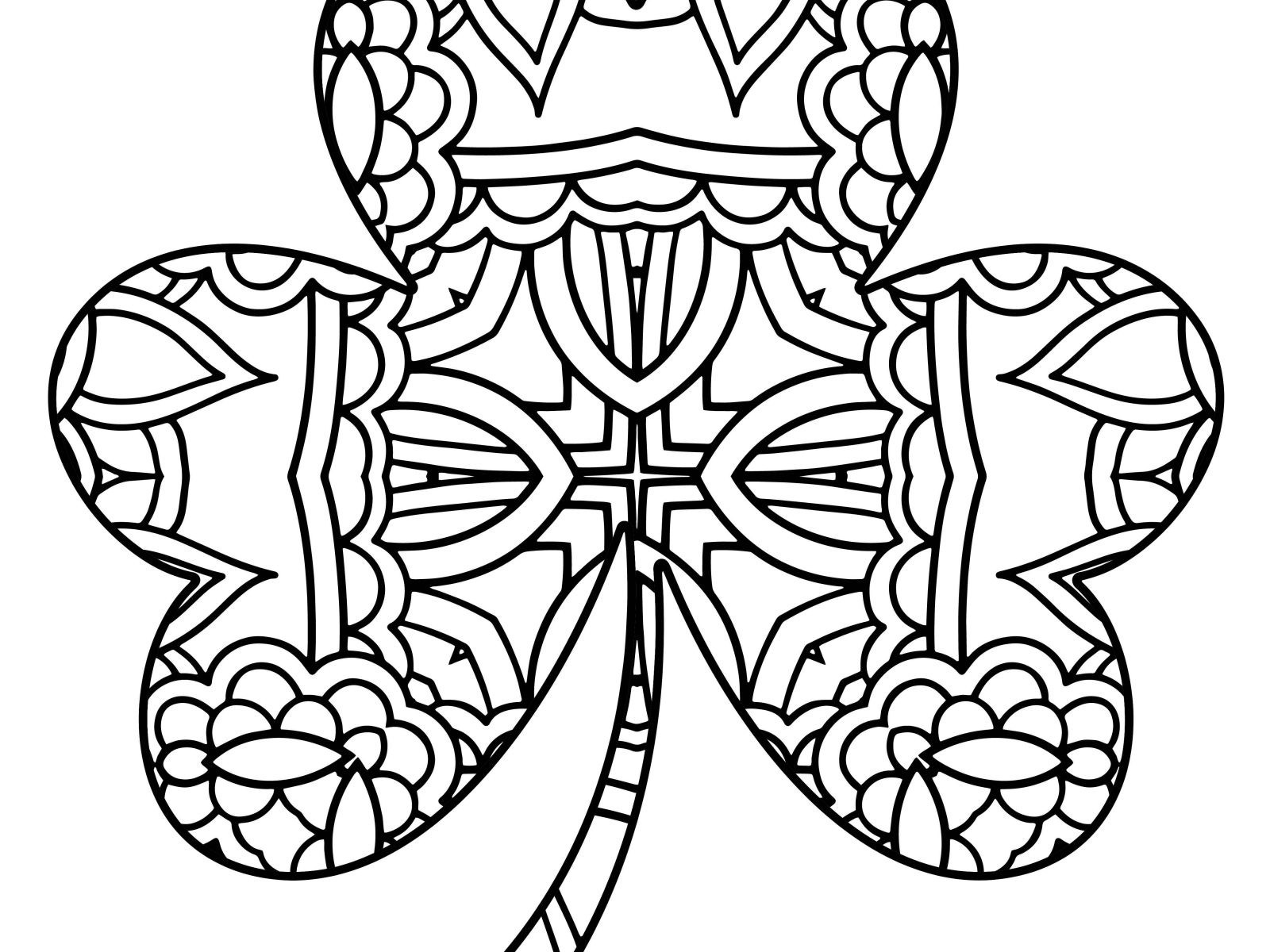 coloring shamrock free coloring pages of shamrocks coloring home coloring shamrock