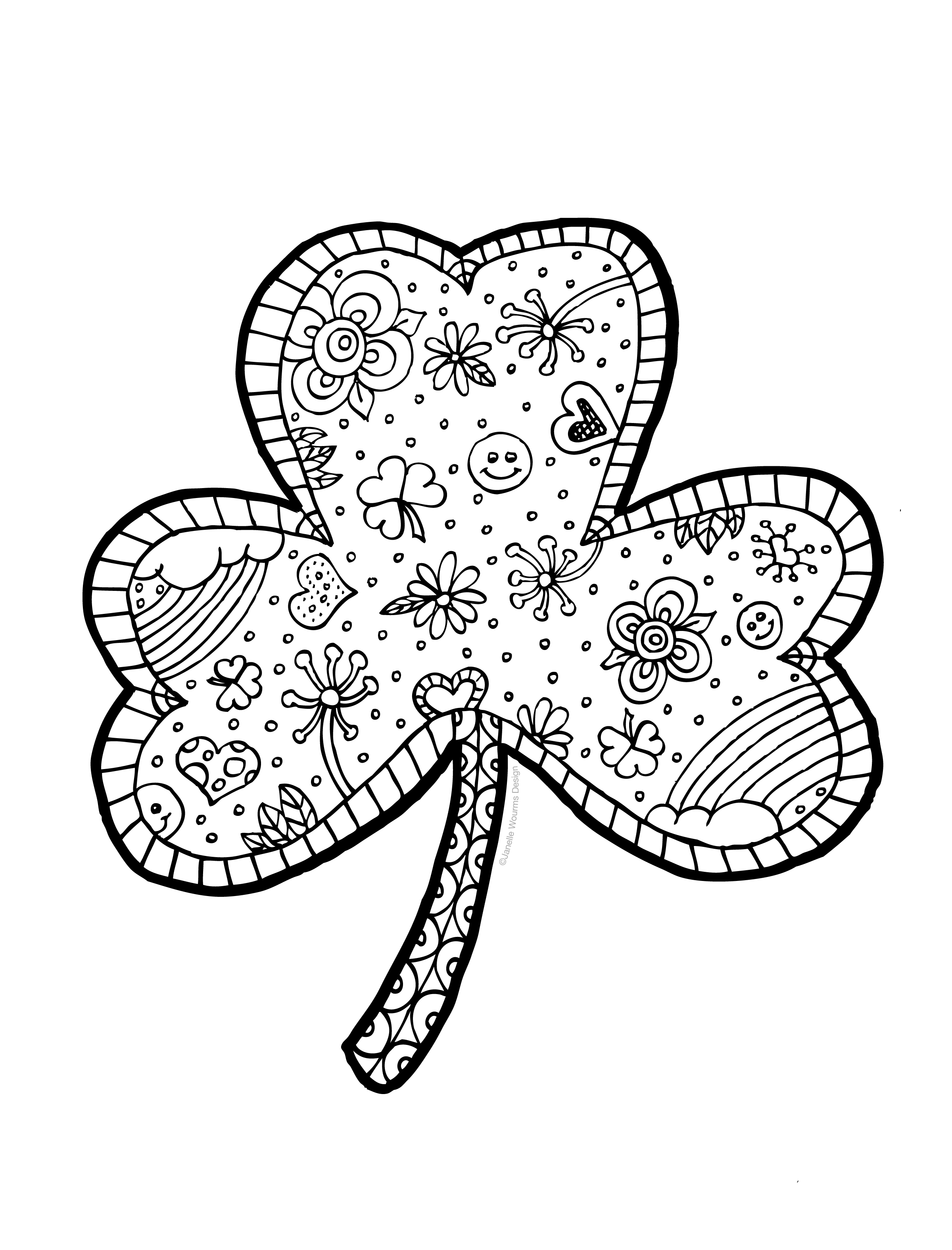coloring shamrock get this free picture of shamrock coloring pages prmlr coloring shamrock
