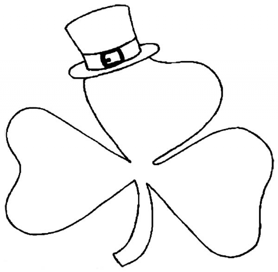 coloring shamrock get this free shamrock coloring pages for toddlers p97hr coloring shamrock