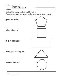 coloring shapes worksheet for grade 1 geometry problems 1st grade 1 worksheet for 1st grade grade coloring shapes worksheet 1 for