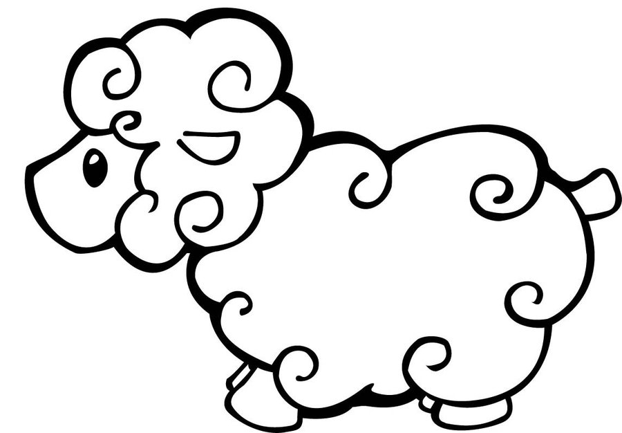 coloring sheep clipart sheep outline drawing at getdrawings free download coloring clipart sheep