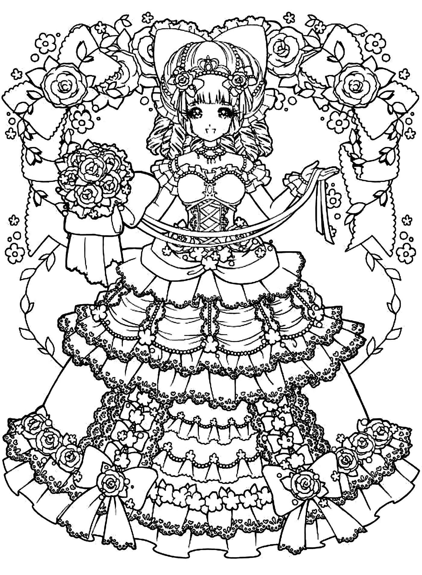 coloring sheet anime girl anime coloring pages getcoloringpagescom anime girl sheet coloring