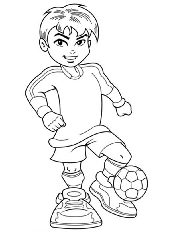 coloring sheet boy a cute boy on complete soccer jersey coloring page sheet coloring boy