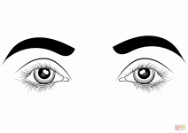 coloring sheet eyes eye coloring page free download on clipartmag sheet coloring eyes