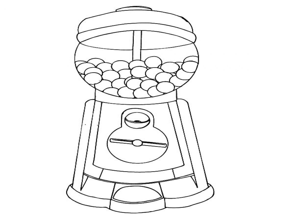 coloring sheet gumball machine coloring page gumball machine coloring pages page sheet machine coloring gumball coloring