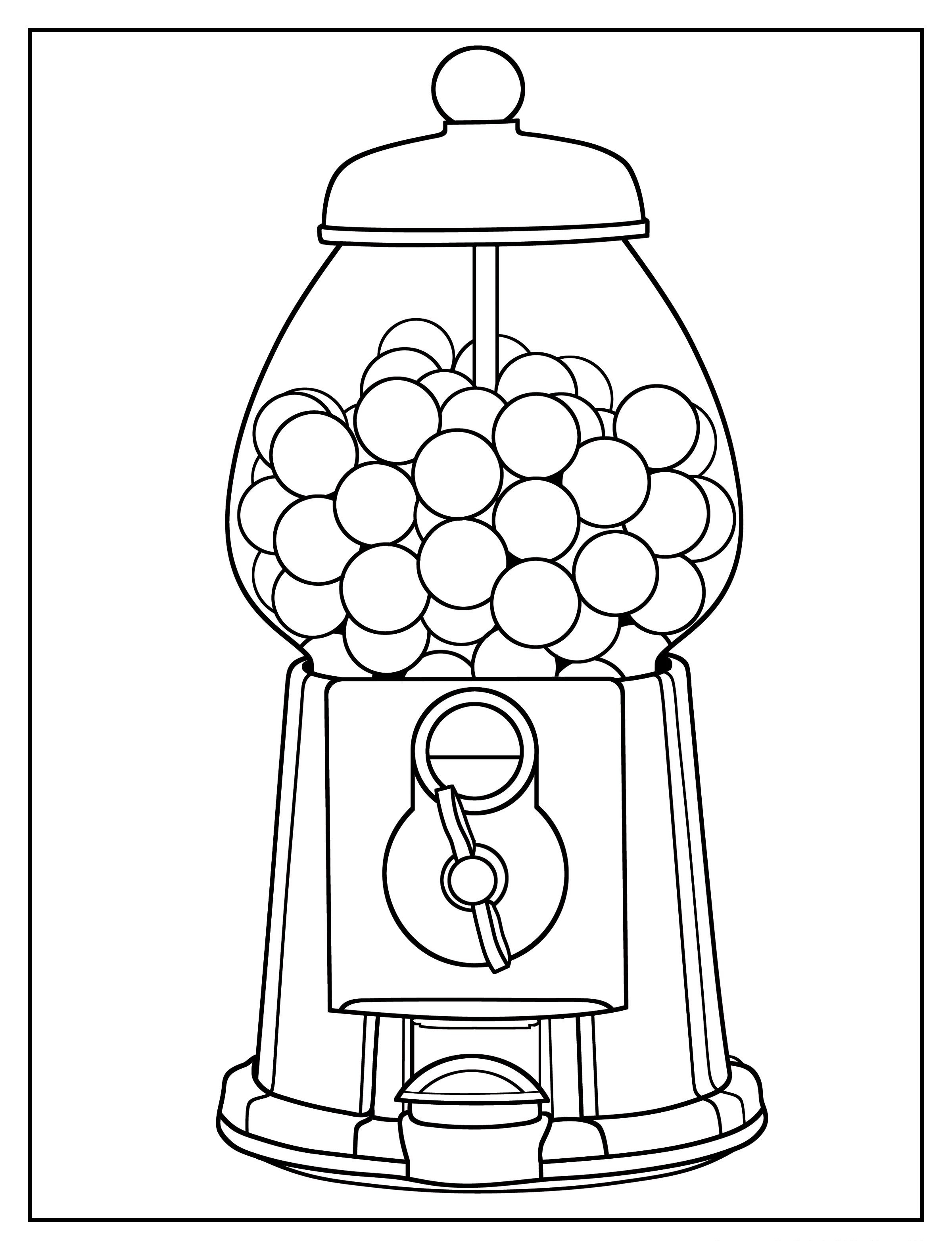 coloring sheet gumball machine coloring page gumball machine coloring pages sheet machine coloring coloring gumball page