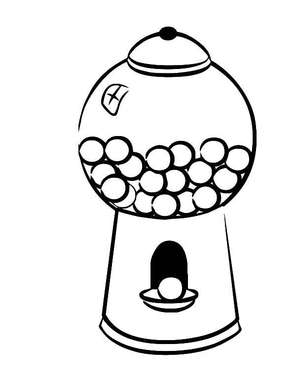 coloring sheet gumball machine coloring page gumball machine drawing at getdrawings free download machine coloring sheet coloring page gumball