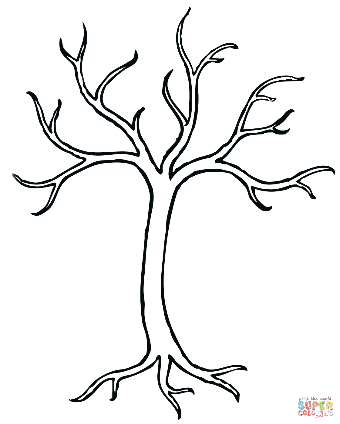 coloring sheet of a tree bare tree coloring page free printable coloring pages a sheet of coloring tree
