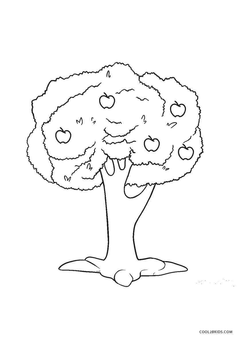 coloring sheet of a tree fall tree coloring pages getcoloringpagescom coloring sheet of tree a