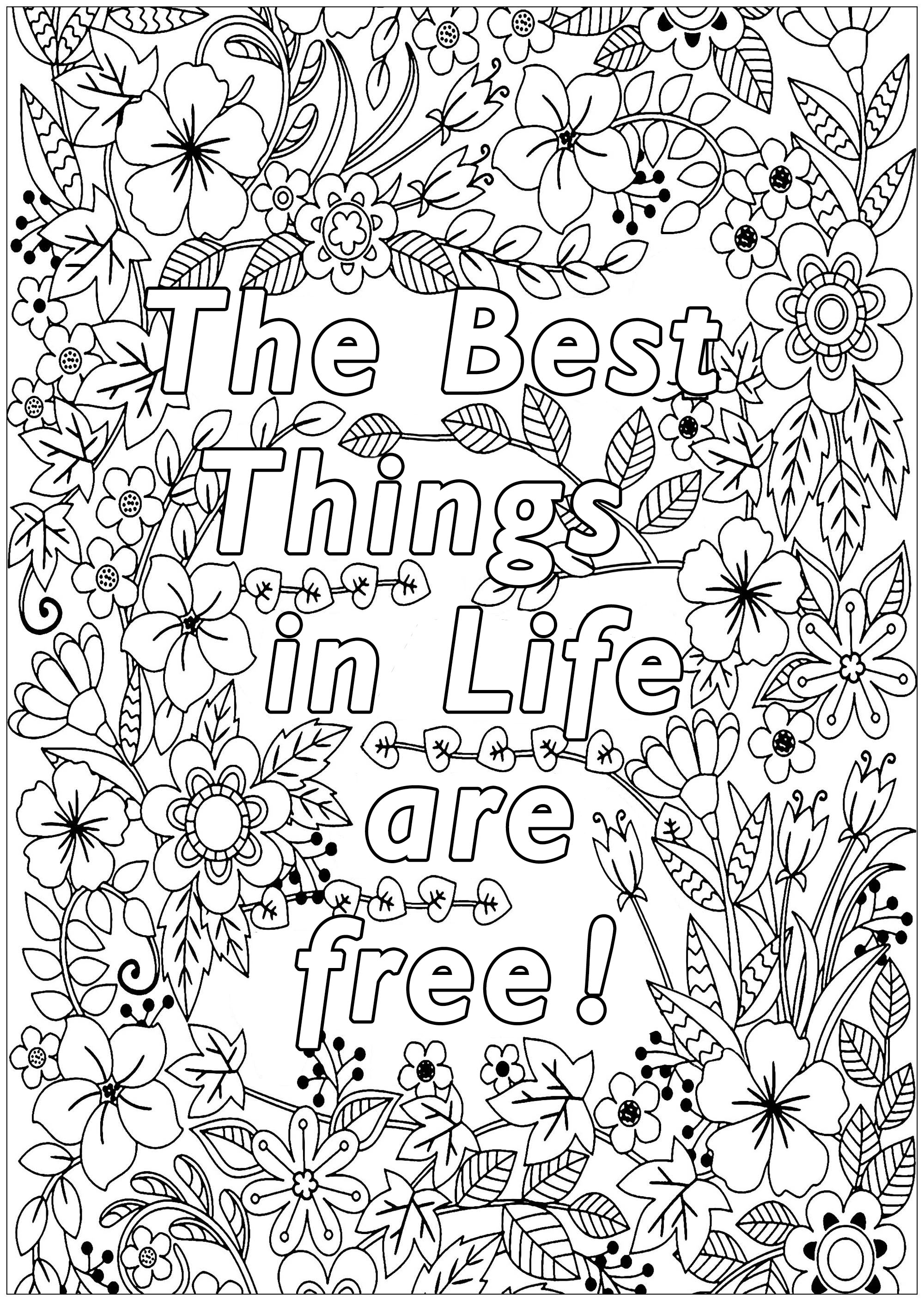 coloring sheet things to color the best things in life are free positive inspiring to color sheet things coloring