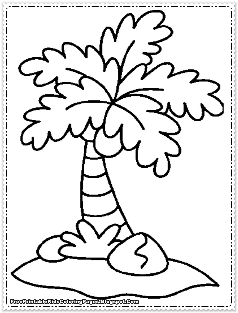 coloring sheet tree coconut printable coloring page free printable kids coloring tree sheet